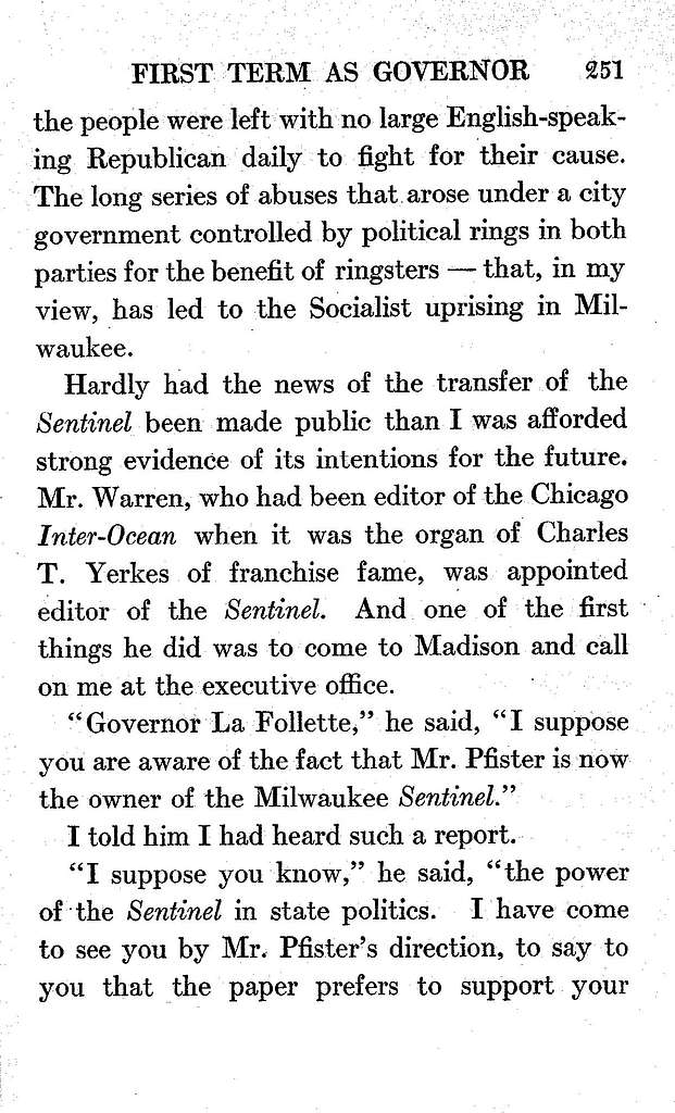 La Follette's autobiography; a personal narrative of political experiences,