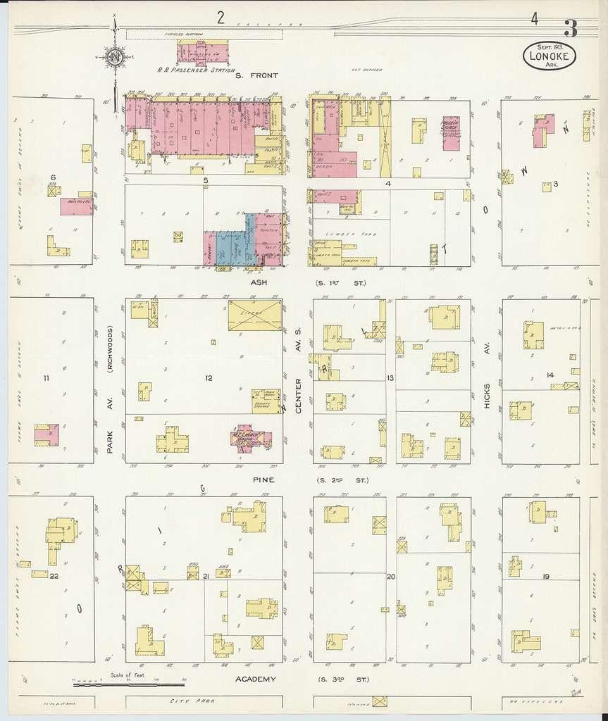 Sanborn Fire Insurance Map from Lonoke, Lonoke County, Arkansas