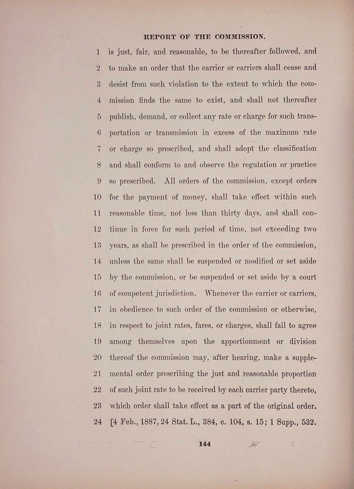 Code of laws governing common carriers of interstate and foreign commerce and within the District of Columbia. Report of commission and existing law