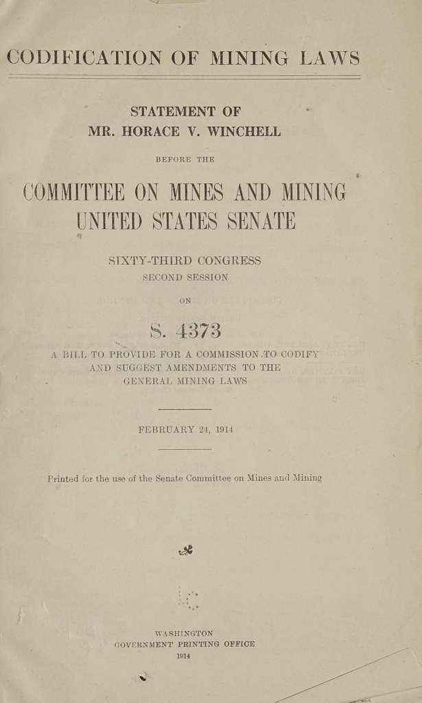 Codification of mining laws