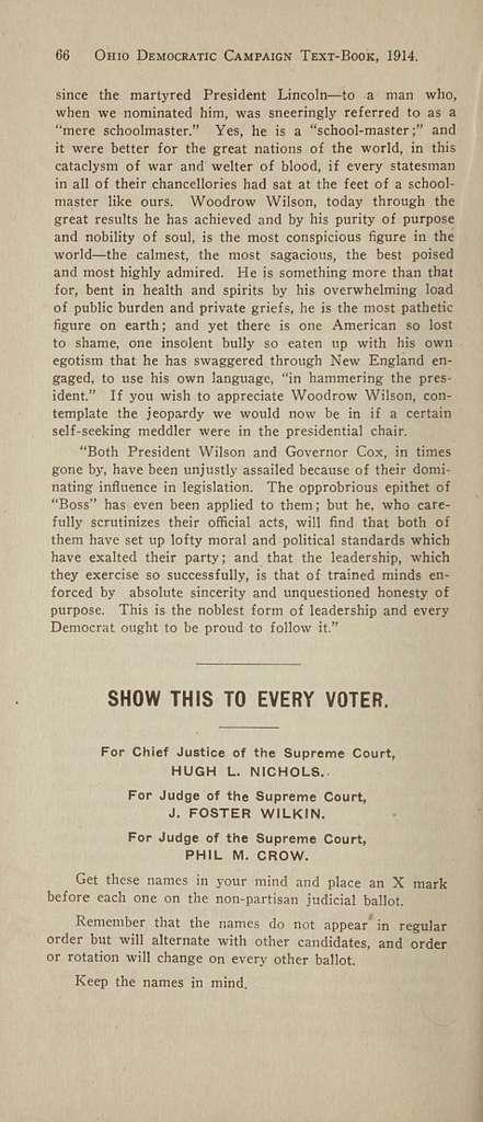 Ohio democratic campaign text-book, 1914;