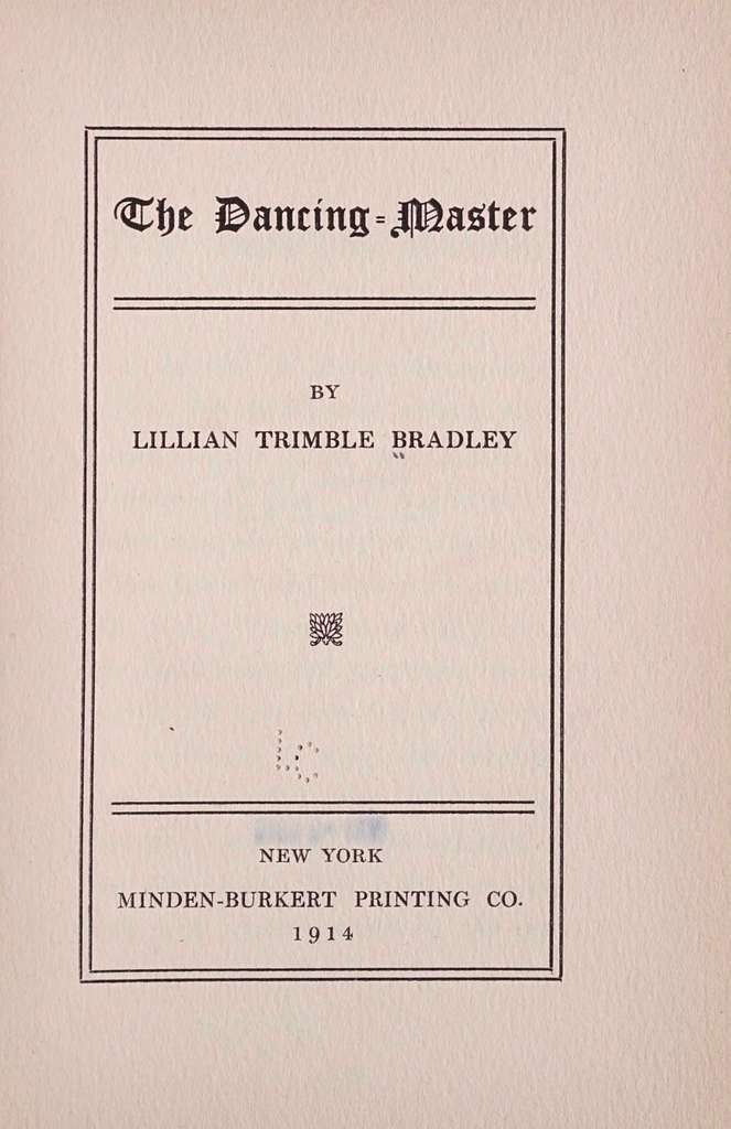 The dancing-master