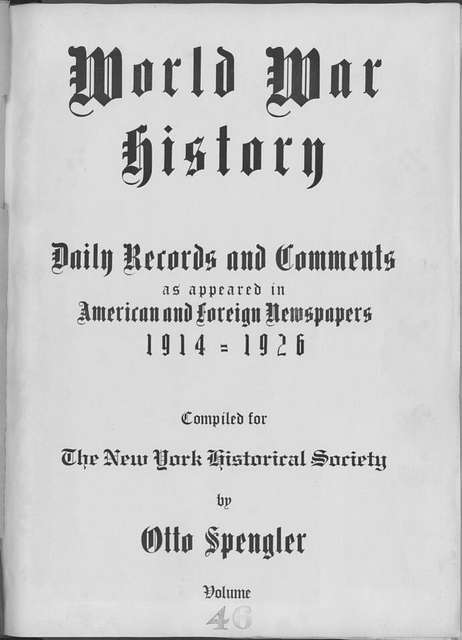 World War history : daily records and comments as appeared in American and foreign newspapers, 1914-1926 (New York), December 30, 1914, (1914 December 30 - 1915 January 1)