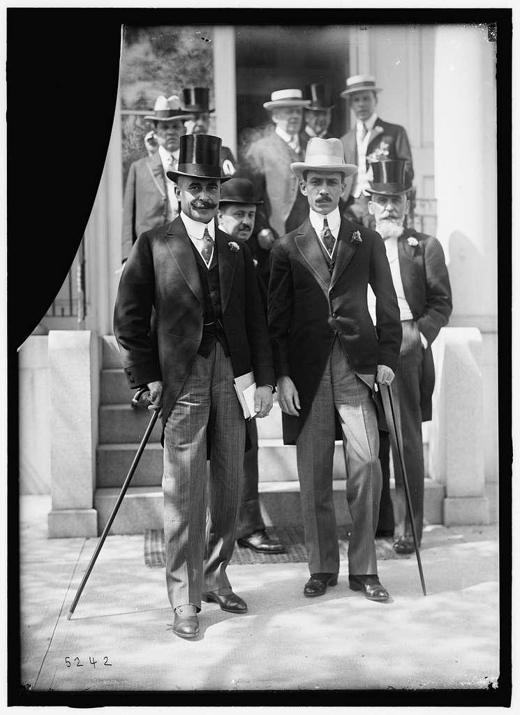 1ST PAN AMERICAN FINANCIAL CONFERENCE, WASHINGTON, D.C., MAY 1915. DOMINICAN DELEGATION: FRANCISCO J. PEYRADO; ENRIQUE JIMENEZ; AMBASSADOR SUAREZ-MUJICA OF CHILE