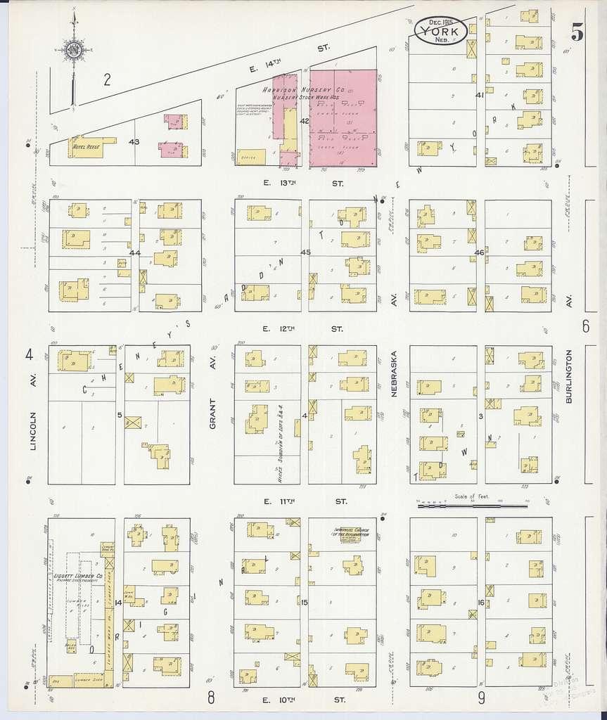 Sanborn Fire Insurance Map from York, York County, Nebraska