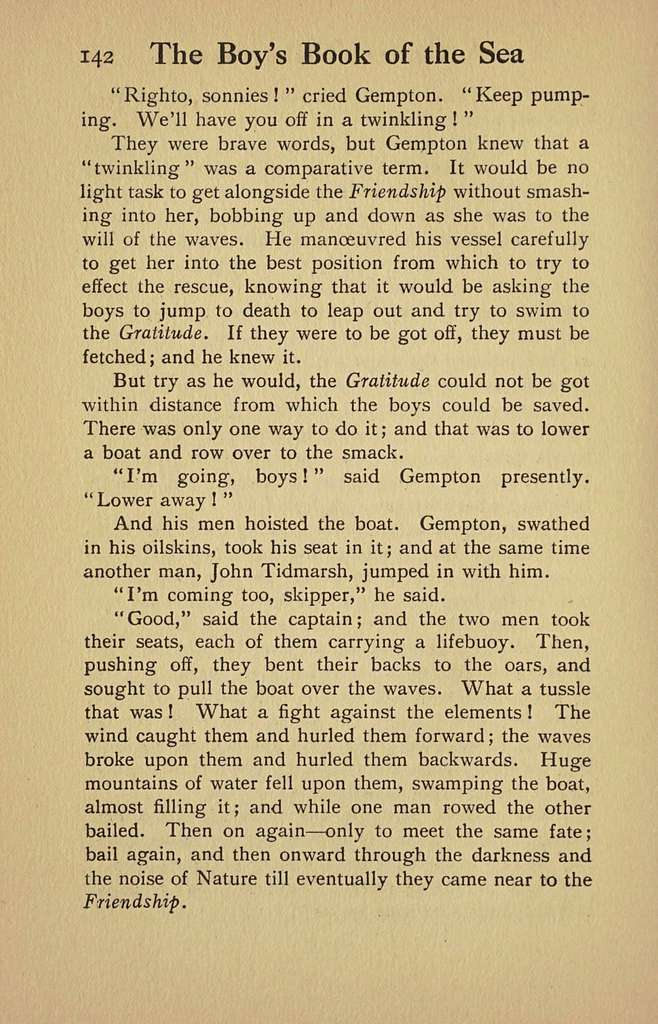 The boy's book of the sea,
