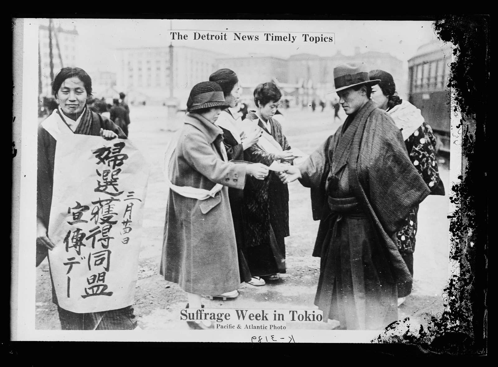 The Detroit news timely topics. Suffrage week in Tokio sic
