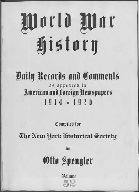 World War history : daily records and comments as appeared in American and foreign newspapers, 1914-1926 (New York), January 20, 1915, (1915 January 20-24)
