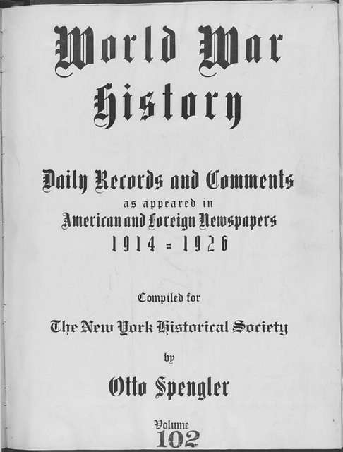 World War history : daily records and comments as appeared in American and foreign newspapers, 1914-1926 (New York), August 26, 1915, (1915 August 26-29)
