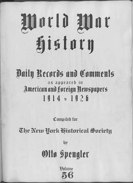 World War history : daily records and comments as appeared in American and foreign newspapers, 1914-1926 (New York), February 2, 1915, (1915 February 2-5)