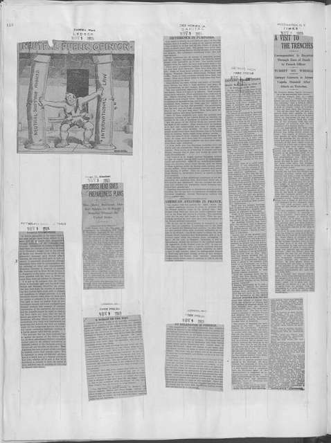 World War history : daily records and comments as appeared in American and foreign newspapers, 1914-1926 (New York), November 8, 1915, (1915 November 8-11)