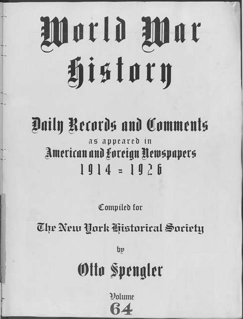 World War history : daily records and comments as appeared in American and foreign newspapers, 1914-1926 (New York), March 9, 1915, (1915 March 9-13)