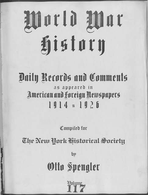 World War history : daily records and comments as appeared in American and foreign newspapers, 1914-1926 (New York), October 25, 1915, (1915 October 25-28)