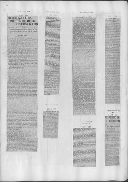 World War history : daily records and comments as appeared in American and foreign newspapers, 1914-1926 (New York), January 1, 1915, (1915 January 1-4)