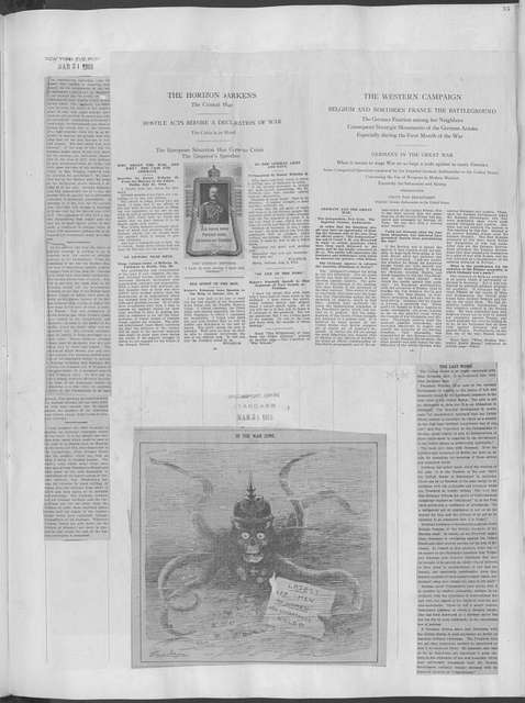 World War history : daily records and comments as appeared in American and foreign newspapers, 1914-1926 (New York), March 29, 1915, (1915 March 29-April 2)