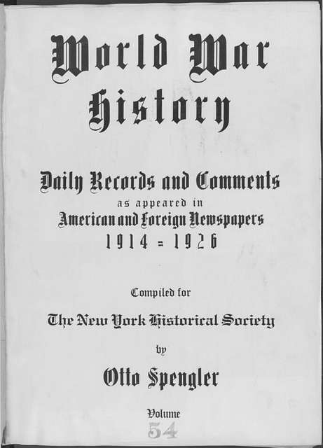 World War history : daily records and comments as appeared in American and foreign newspapers, 1914-1926 (New York), January 27, 1915, (1915 January 27-31)