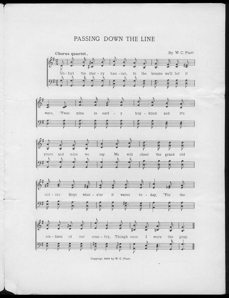 Passing down the line