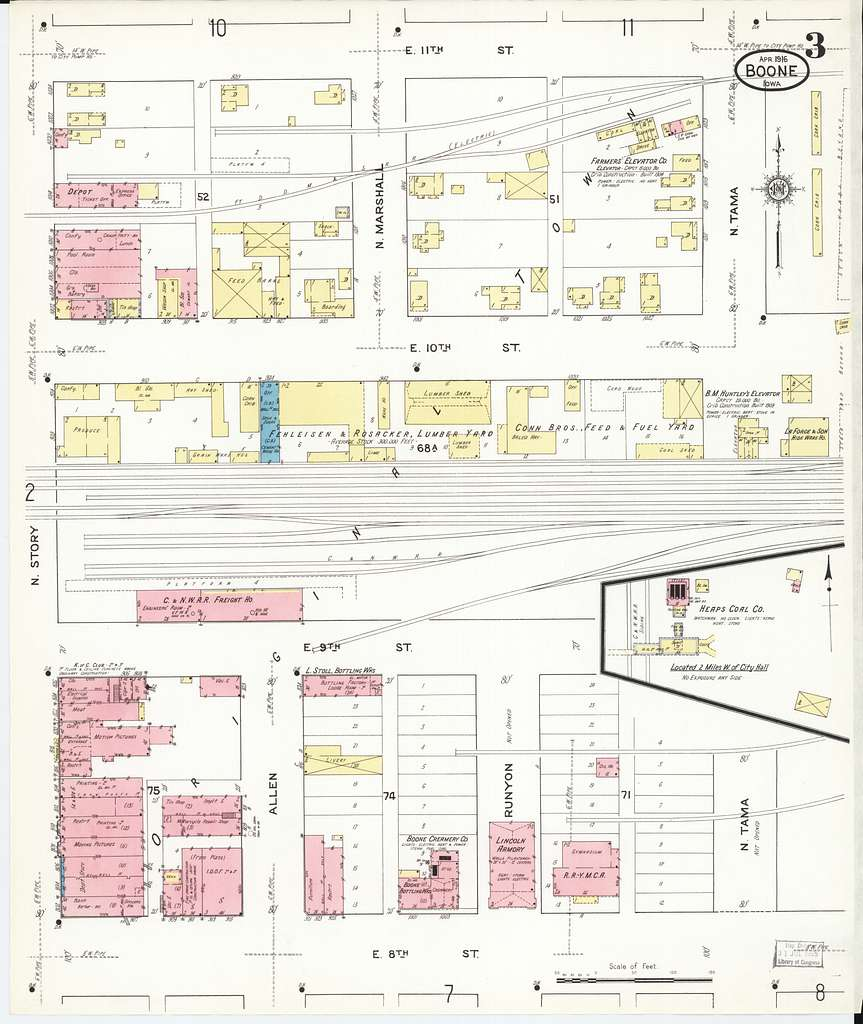 Sanborn Fire Insurance Map from Boone, Boone County, Iowa