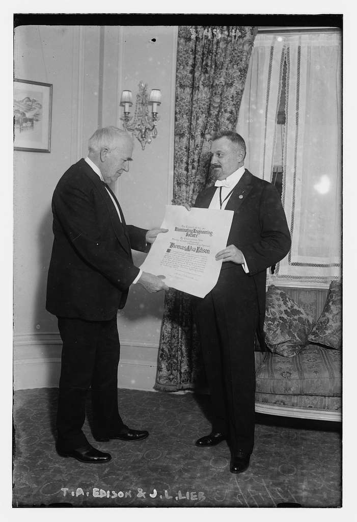 T. A. Thomas Alva Edison and J.L. Lieb