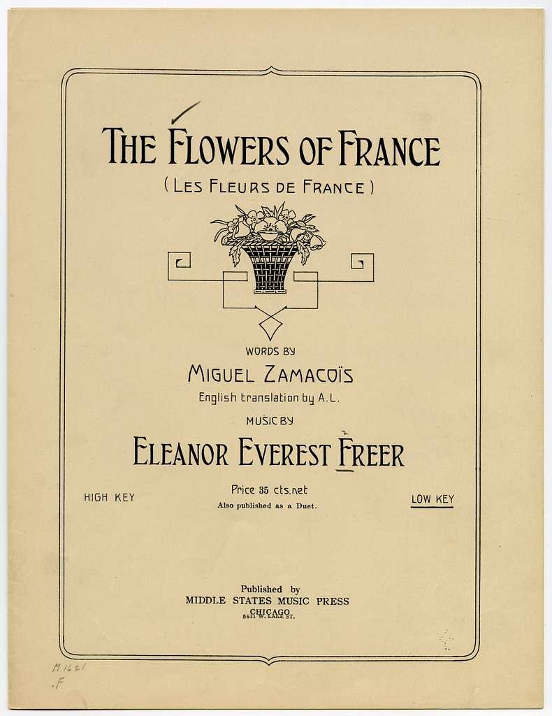 The Flowers of France Les Fleurs de France Op. 27, No. 3