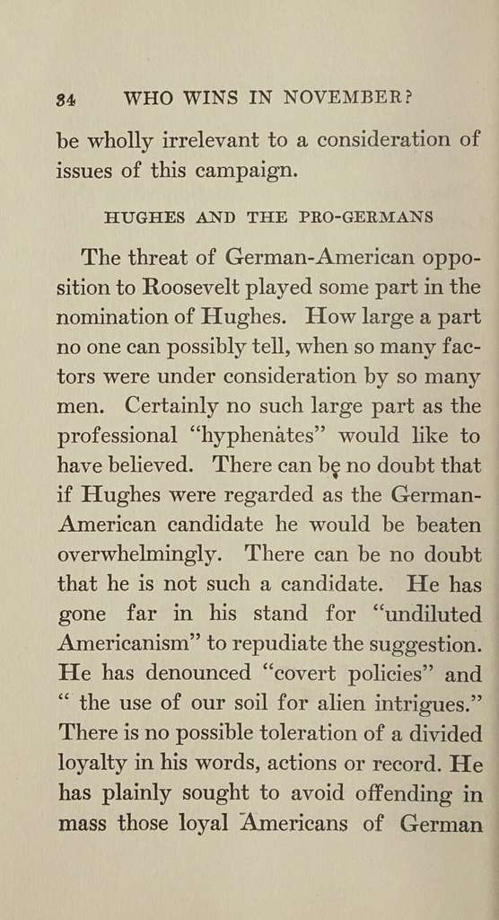 "Who wins in November? The ""Inside politics"" that will decid the presidency in 1916,"