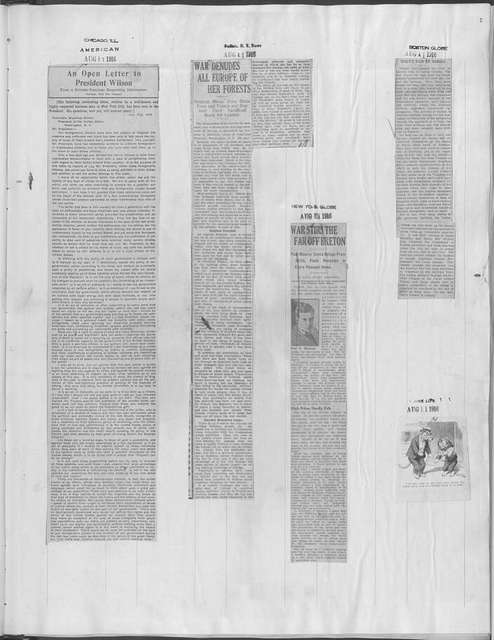World War history : daily records and comments as appeared in American and foreign newspapers, 1914-1926 (New York), August 11, 1916, (1916 August 11-15)