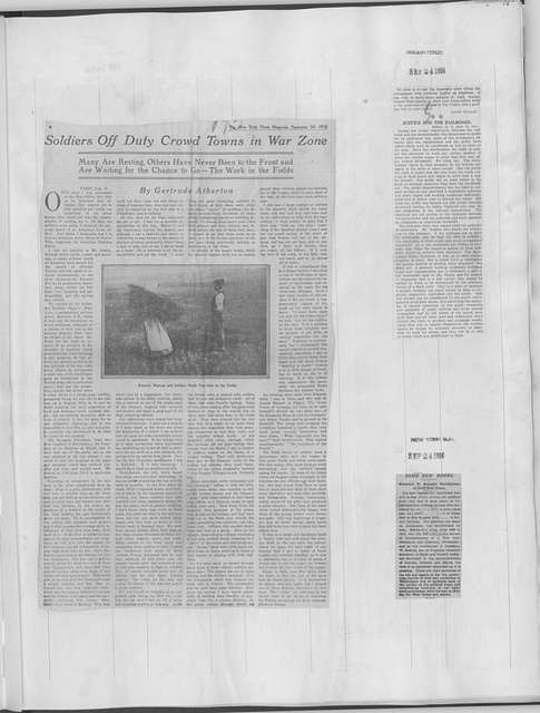 World War history : daily records and comments as appeared in American and foreign newspapers, 1914-1926 (New York), September 22, 1916, (1916 September 22-29)