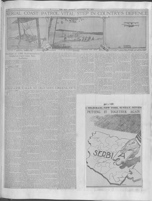 World War history : daily records and comments as appeared in American and foreign newspapers, 1914-1926 (New York), November 25, 1916, (1916 November 25-29)