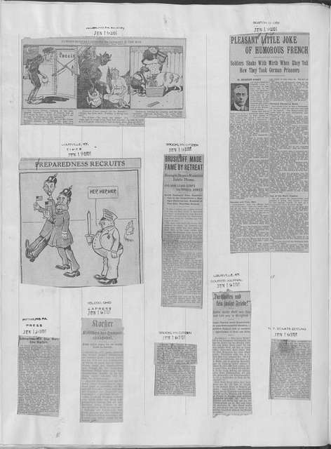 World War history : daily records and comments as appeared in American and foreign newspapers, 1914-1926 (New York), June 15, 1916, (1916 June 15-23)