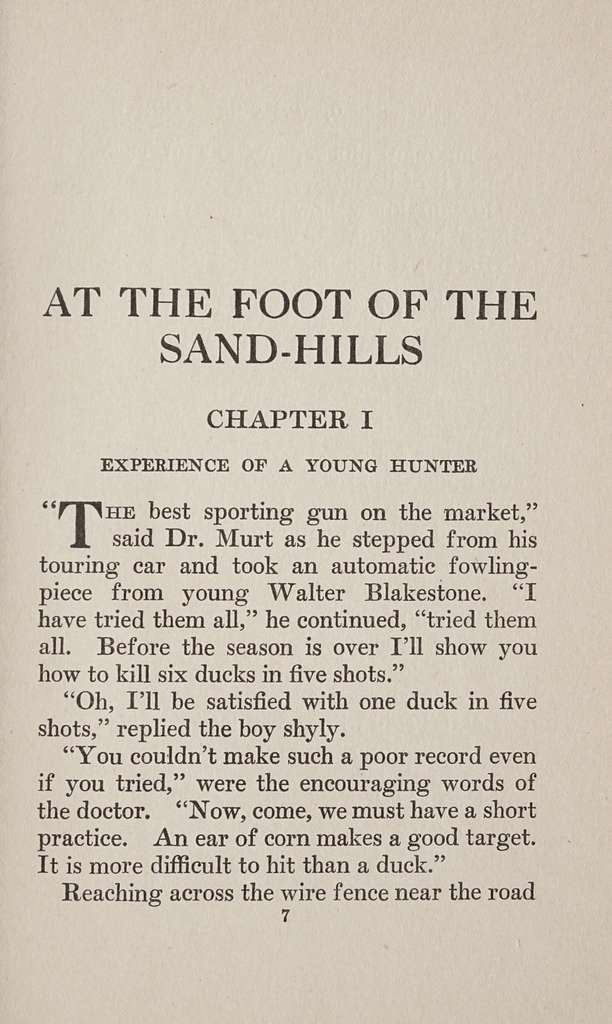 At the foot of the sand-hills,