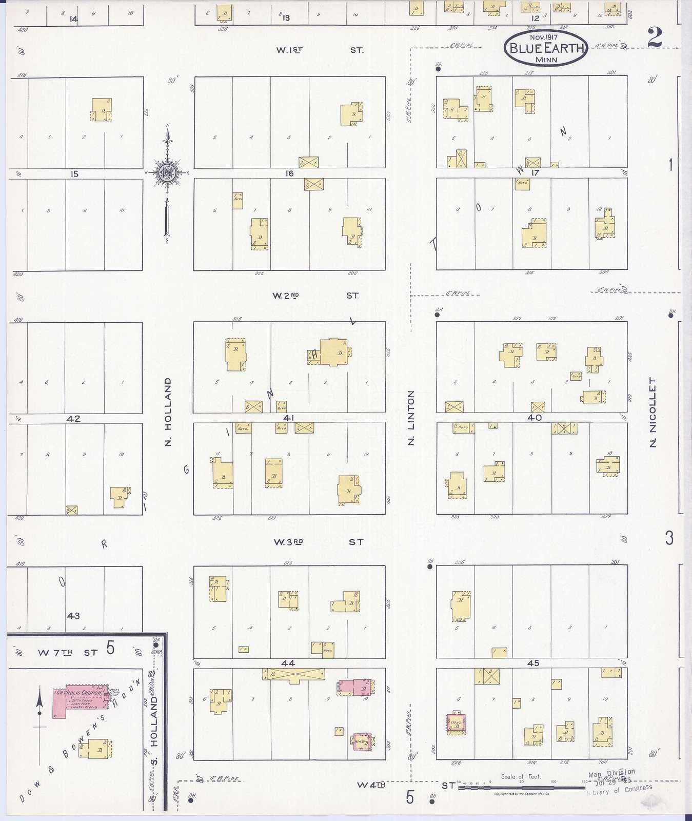 Sanborn Fire Insurance Map from Blue Earth, Faribault County, Minnesota