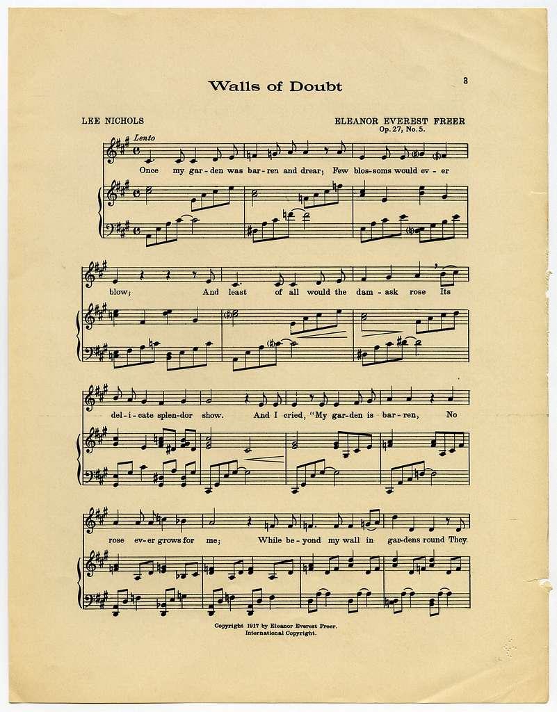 Walls of Doubt Op. 27, No. 5