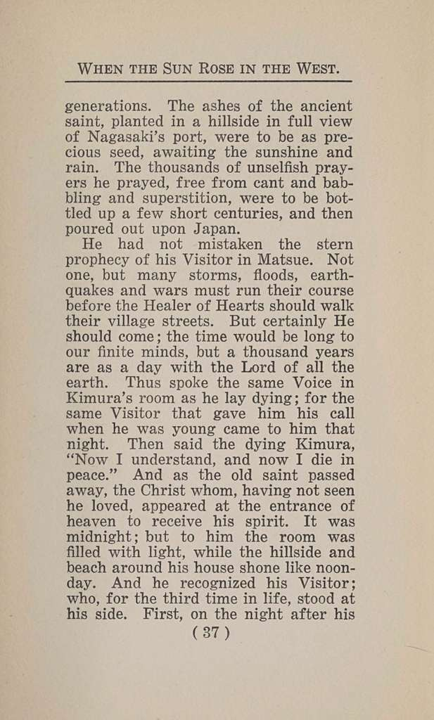 When the sun rose in the west. A story of the first Advent, with a Japanese setting
