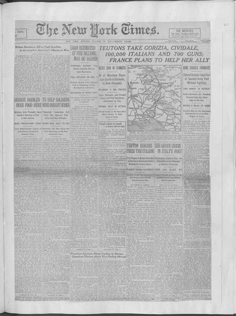 World War history : daily records and comments as appeared in American and foreign newspapers, 1914-1926 (New York), October 27, 1917, (1917 October 27-31)