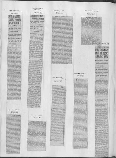 World War history : daily records and comments as appeared in American and foreign newspapers, 1914-1926 (New York), November 25, 1917, (1917 November 25-December 1)