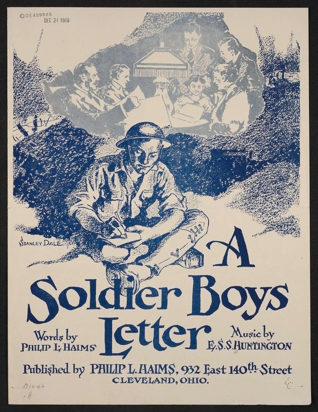 A soldier boys letter