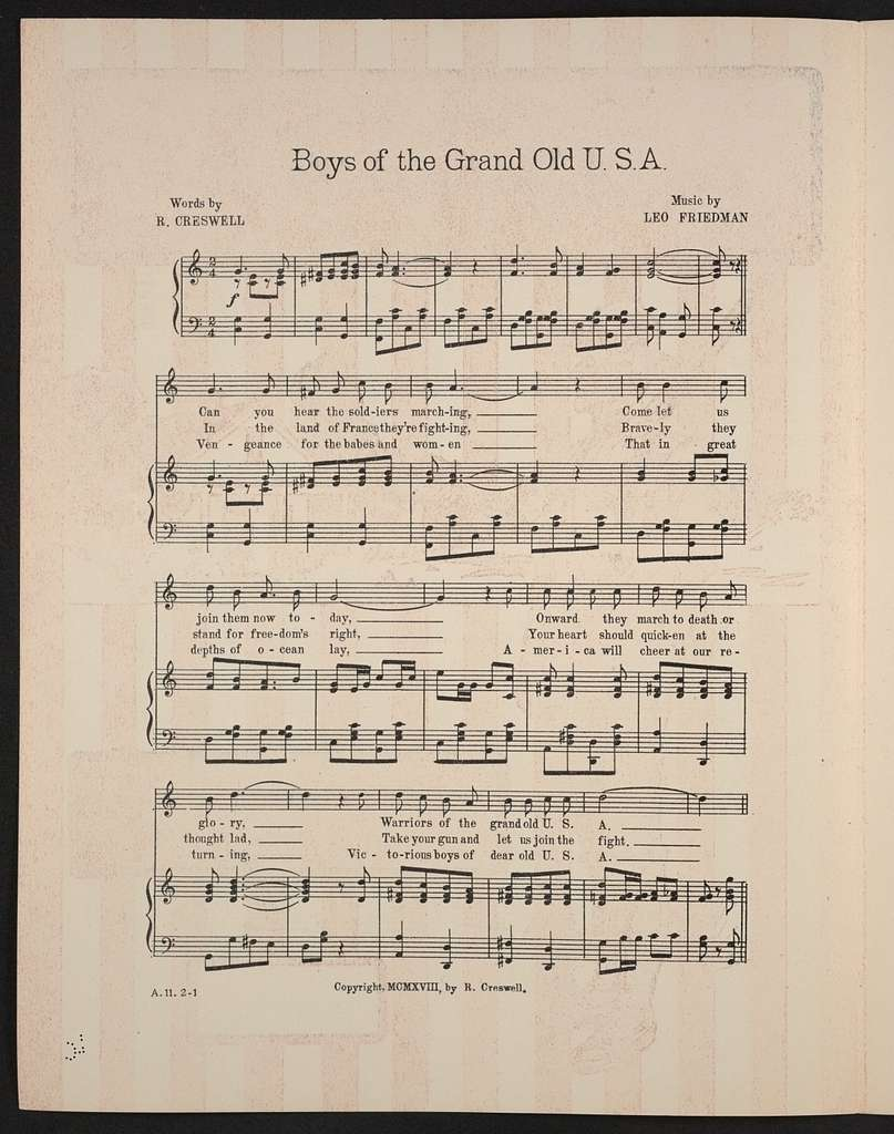 Boys of the grand old U.S.A
