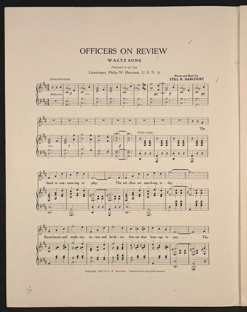 Officers on review waltz song