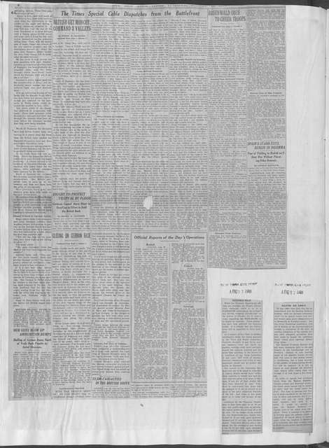 World War history : daily records and comments as appeared in American and foreign newspapers, 1914-1926 (New York), August 25, 1918, (1918 August 25-30)