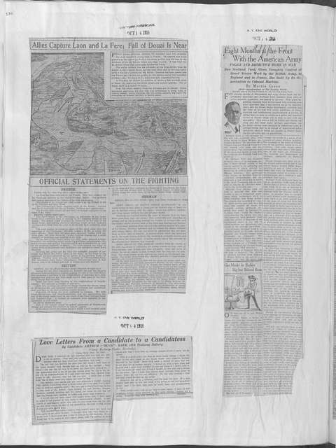 World War history : daily records and comments as appeared in American and foreign newspapers, 1914-1926 (New York), October 12, 1918, (1918 October 12-15)