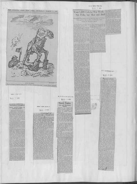 World War history : daily records and comments as appeared in American and foreign newspapers, 1914-1926 (New York), March 6, 1918, (1918 March 6-10)