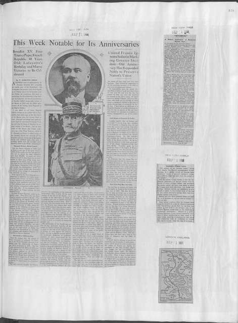 World War history : daily records and comments as appeared in American and foreign newspapers, 1914-1926 (New York), August 30, 1918, (1918 August 30 - September 3)