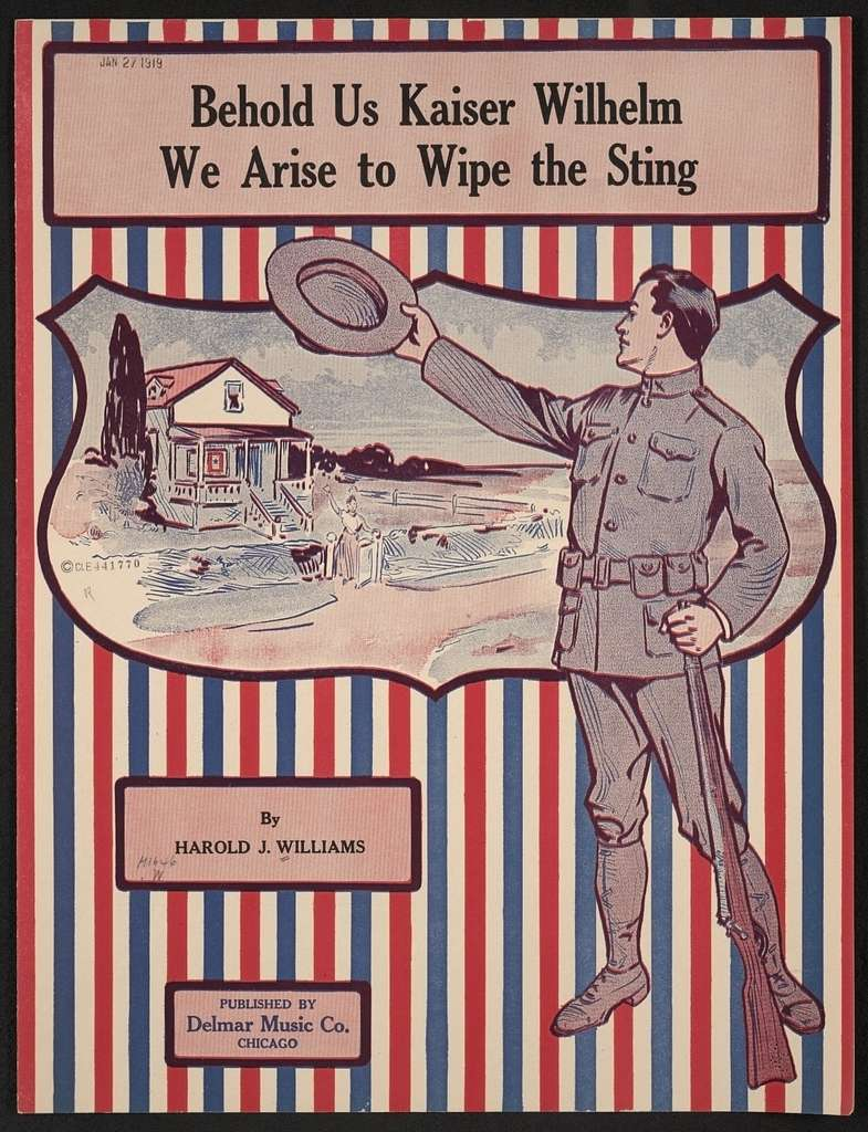 Behold us Kaiser Wilhelm we arise to wipe the sting