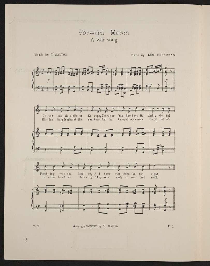 Forward march a war song