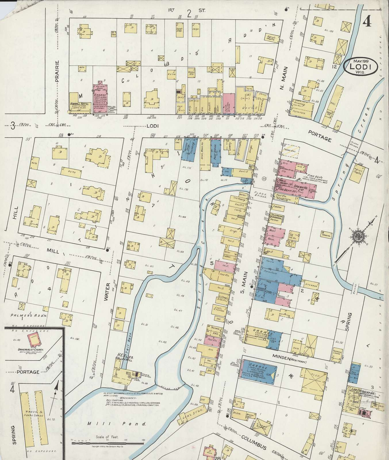 Sanborn Fire Insurance Map from Lodi, Columbia County, Wisconsin