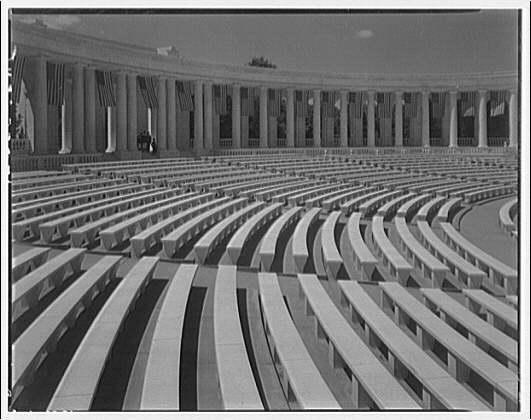 Arlington National Cemetery. Interior of Arlington National Cemetery Amphitheater showing seats