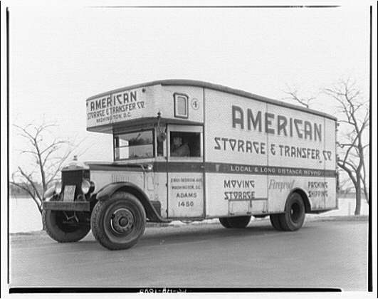 Moving van, American Storage & Transfer. 1000 cubic ft. capacity