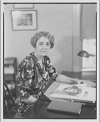 Mrs. Helen Hagner. Mrs. Hagner at desk I