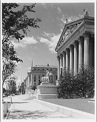 National Archives. National Archives, looking west on Constitution Ave. II