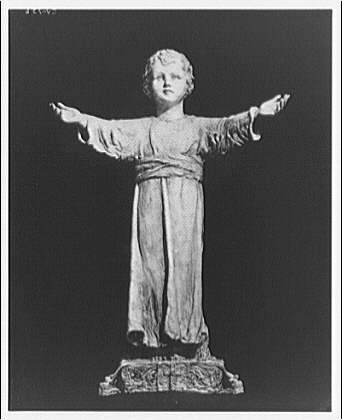 National Cathedral. Statue of child Jesus in National Cathedral IX